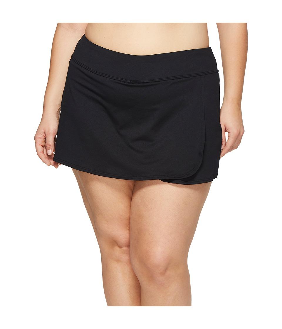TYR Plus Size Skort (Black)
