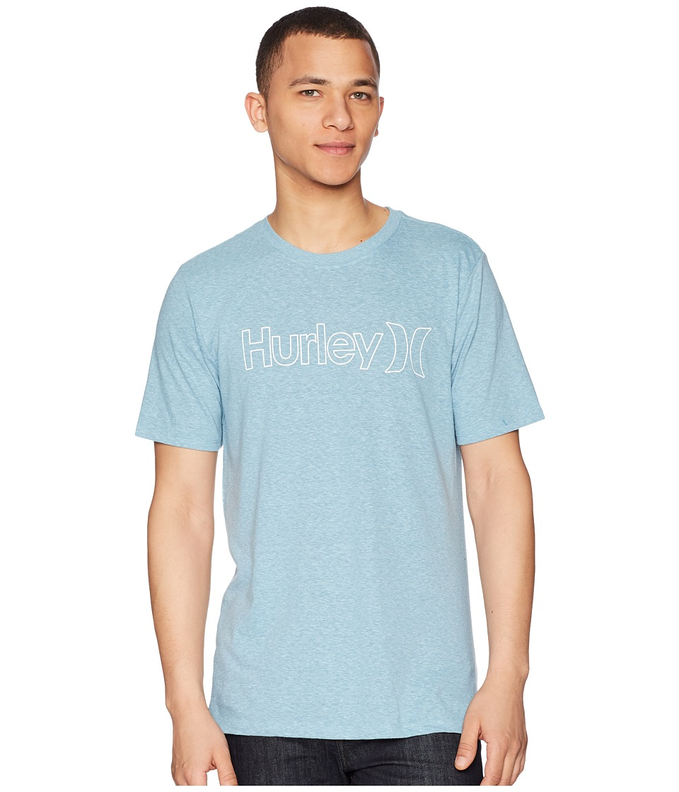 Hurley - One Only Outline Tri-Blend (Noise Aqua Ocean Bliss) Mens Clothing