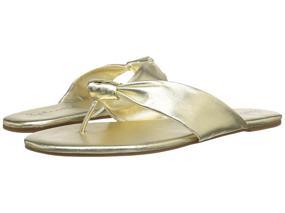 Splendid Bridgette (Gold Metallic Leather) Sandals