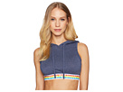 Emporio Armani Over the Rainbow Crop Hoodie Top