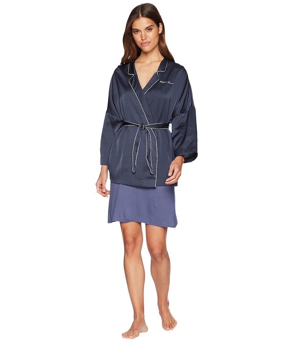 Emporio Armani - Pajama Couture Kimono (Night Blue) Womens Clothing