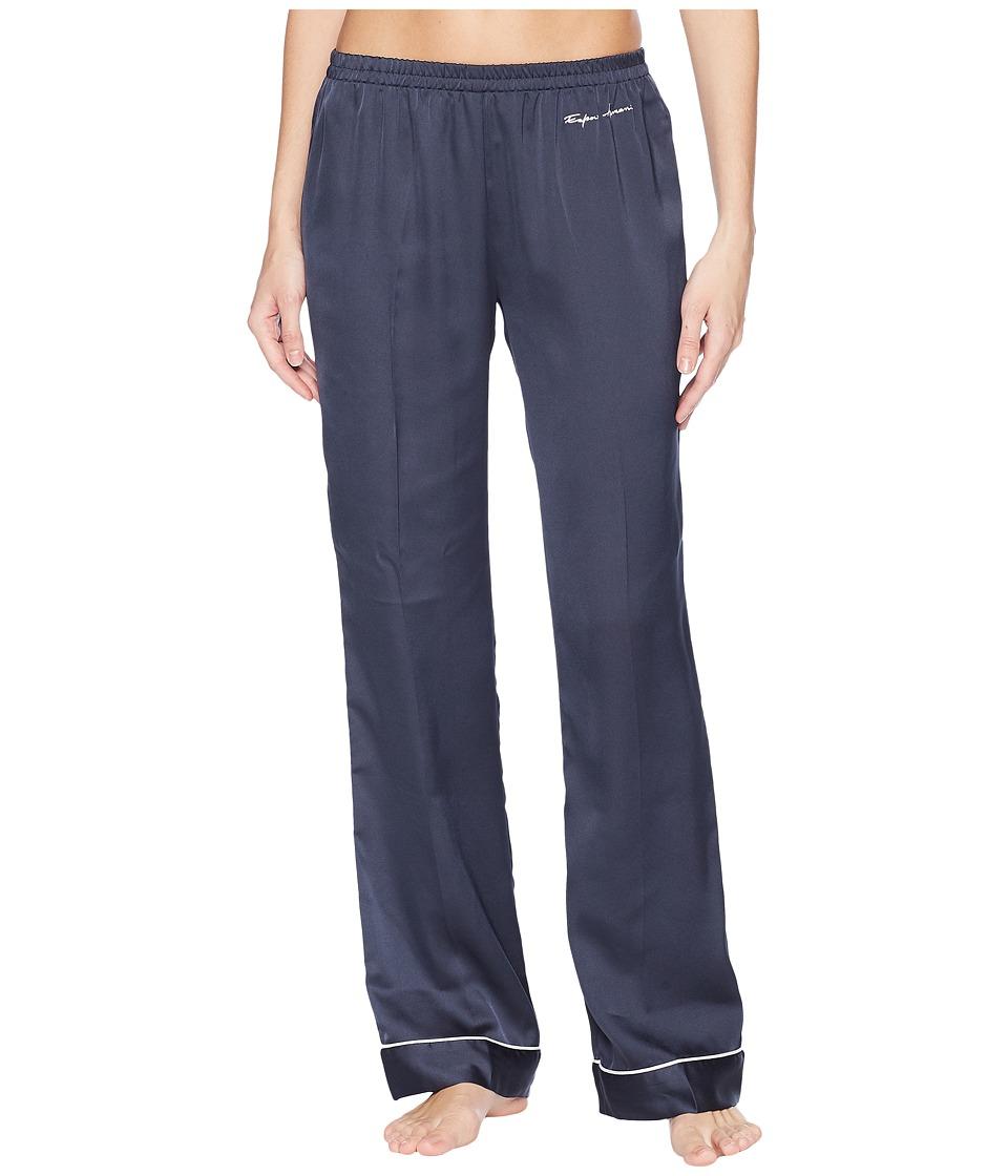 Emporio Armani - Pajama Couture Loose Fit Pants (Night Blue) Womens Pajama