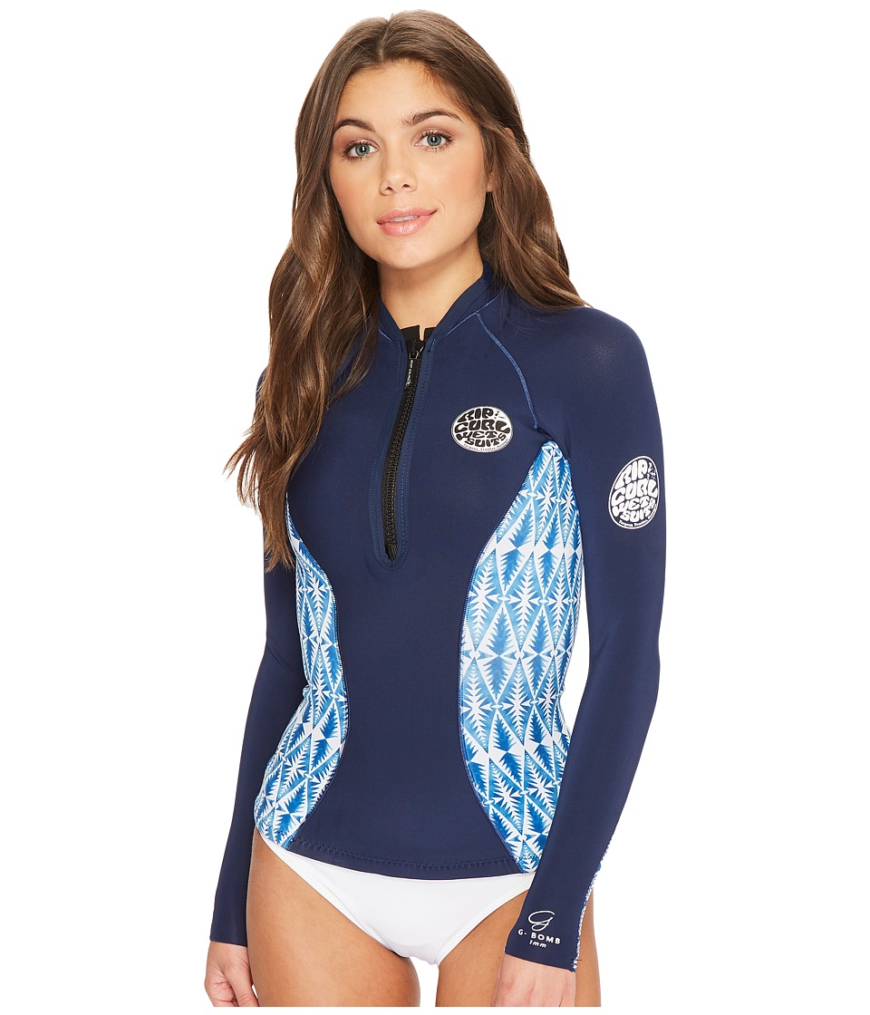 Rip Curl G Bomb Long Sleeve Full Zip Sub Jacket (Blue)
