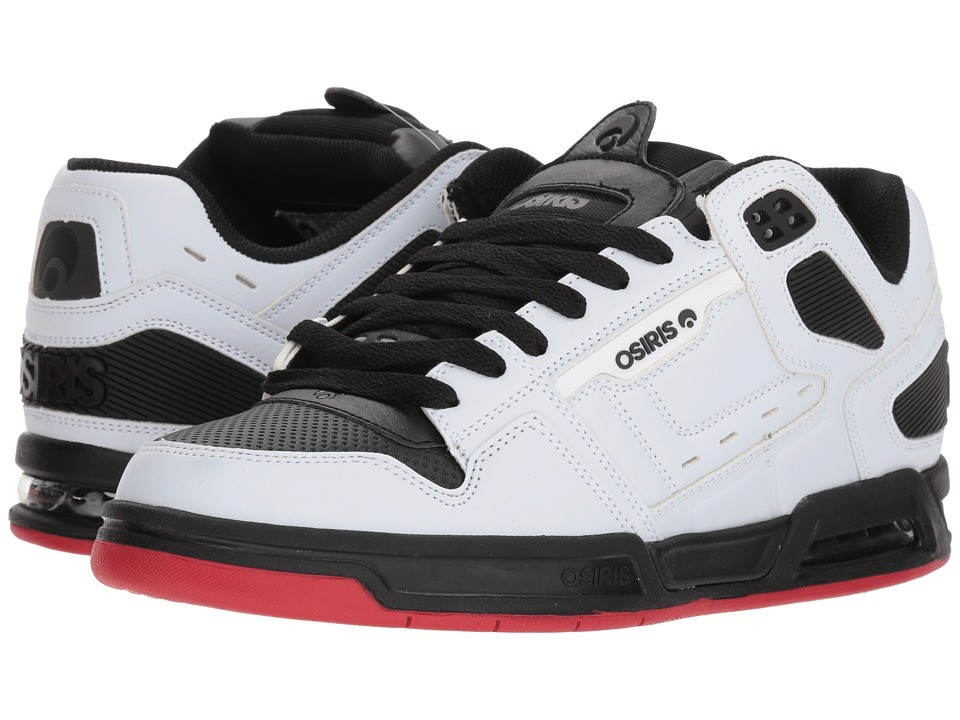 Osiris - Peril (White/Black/Red) Mens Skate Shoes