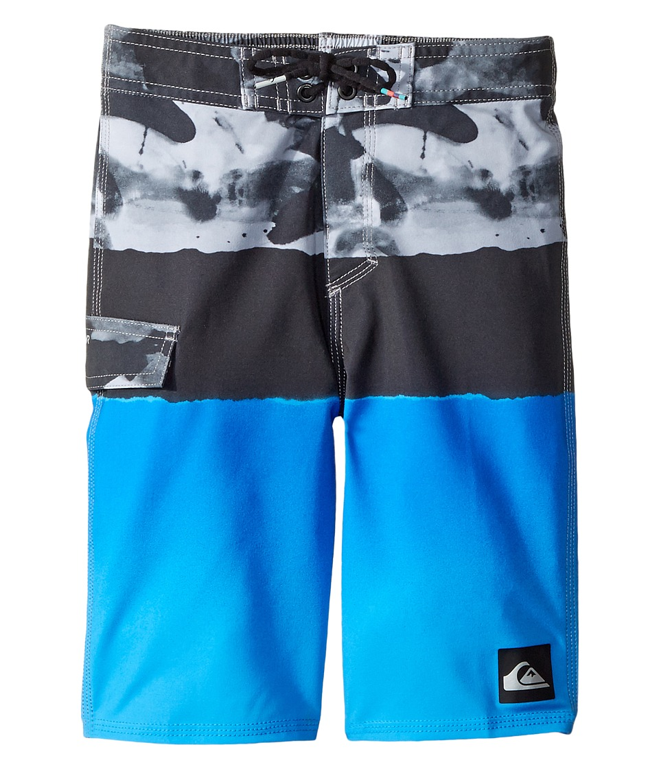 Quiksilver Kids Blocked Resin Camo Boardshorts (Big Kids) (Electric Blue) Boy
