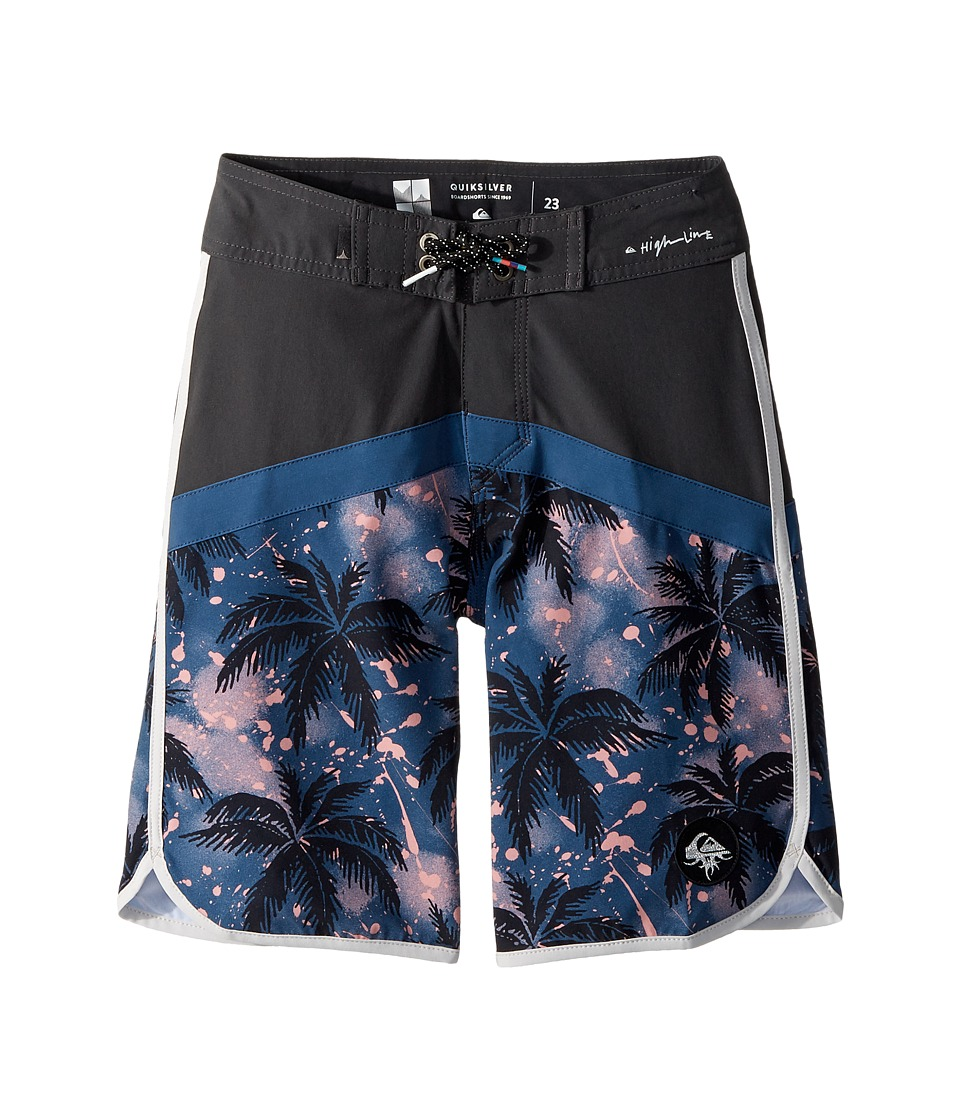Quiksilver Kids Crypt Scallop Boardshorts (Big Kids) (Tarmac) Boy