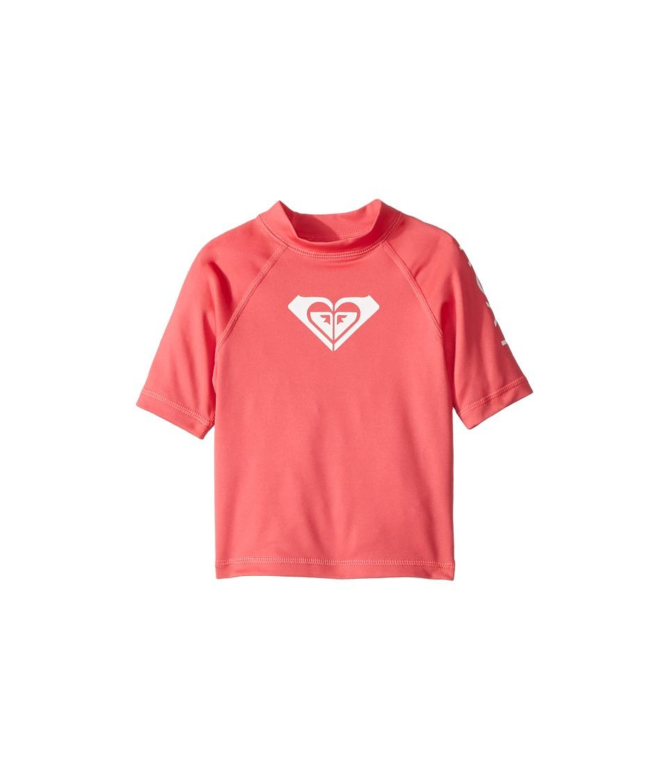 Roxy Kids Whole Hearted Short Sleeve Rashguard (Toddler/Little Kids/Big Kids) (Rouge Red) Girl