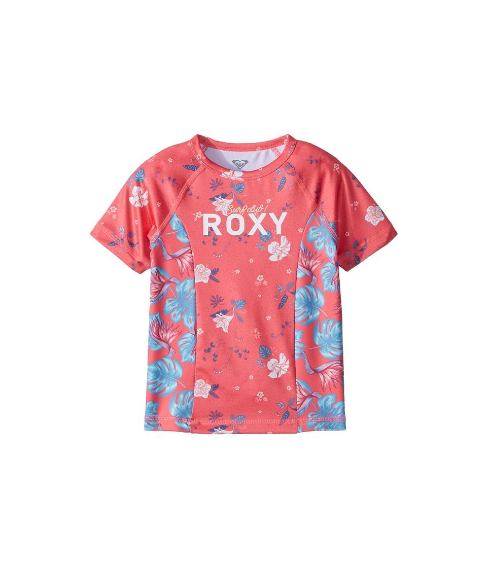 Roxy Kids Simply Roxy Short Sleeve Rashguard (Toddler/Little Kids/Big Kids) (Rouge Red/Tropicool) Girl