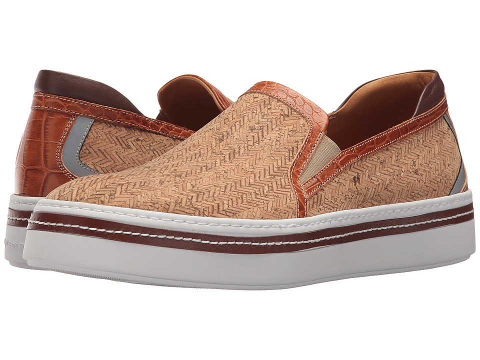 Right Bank Shoe Cotm - Sal Sneaker (Natural) Mens Slip on  Shoes