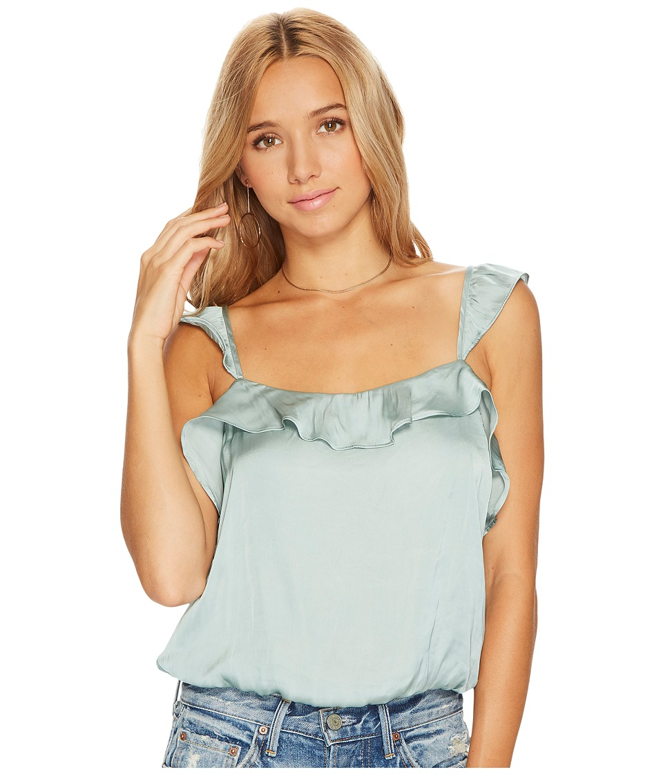 ASTR the Label - Silky Ruffle Tank Top