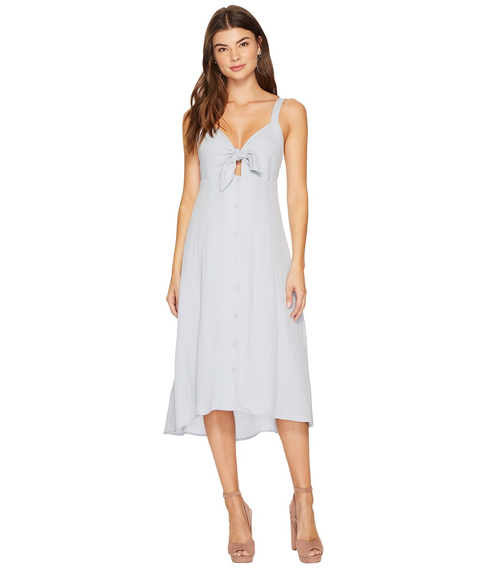 ASTR the Label - Tie Front Linen Midi Dress