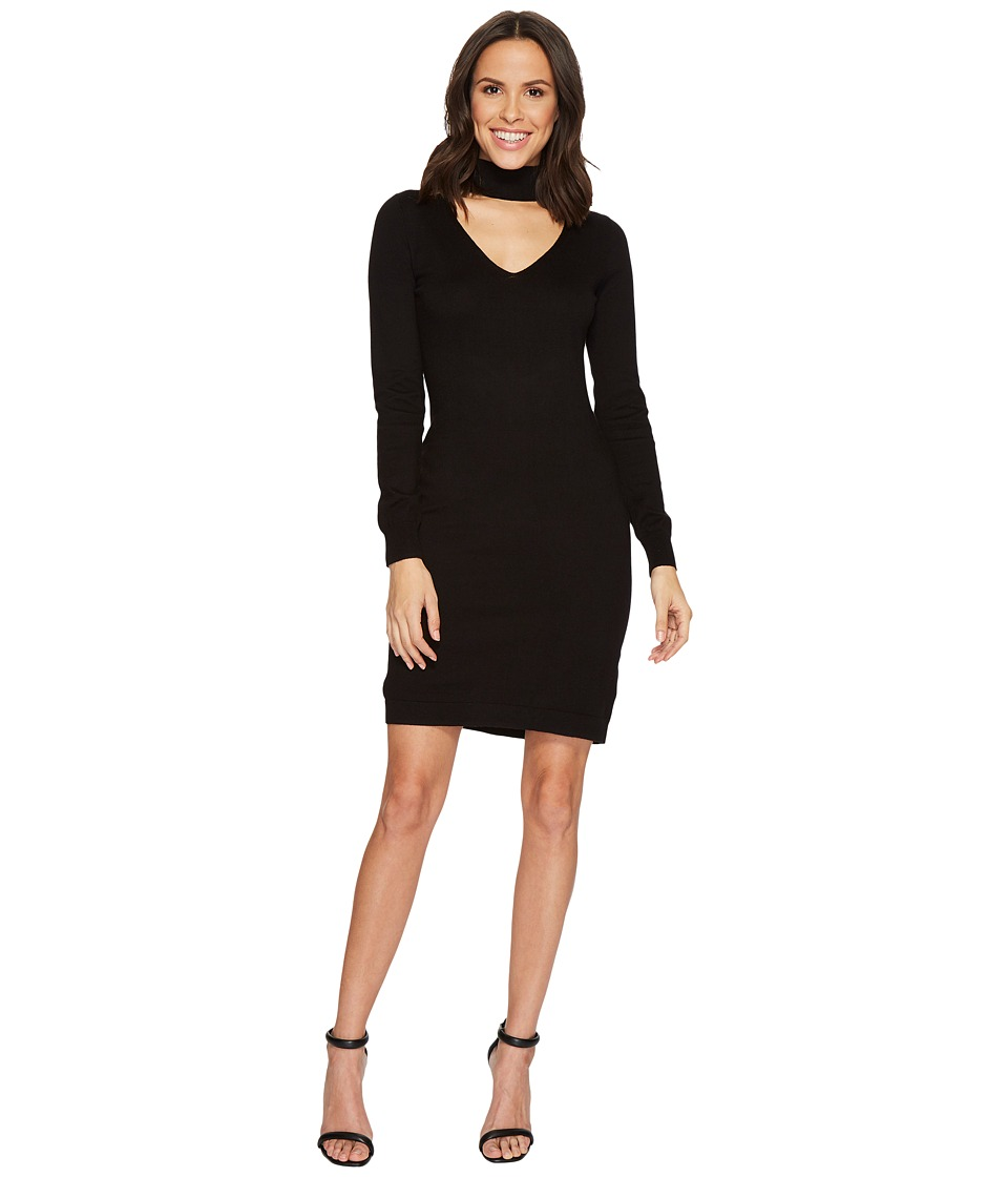 MICHAEL Michael Kors Choker Sweater Dress (Black) Women