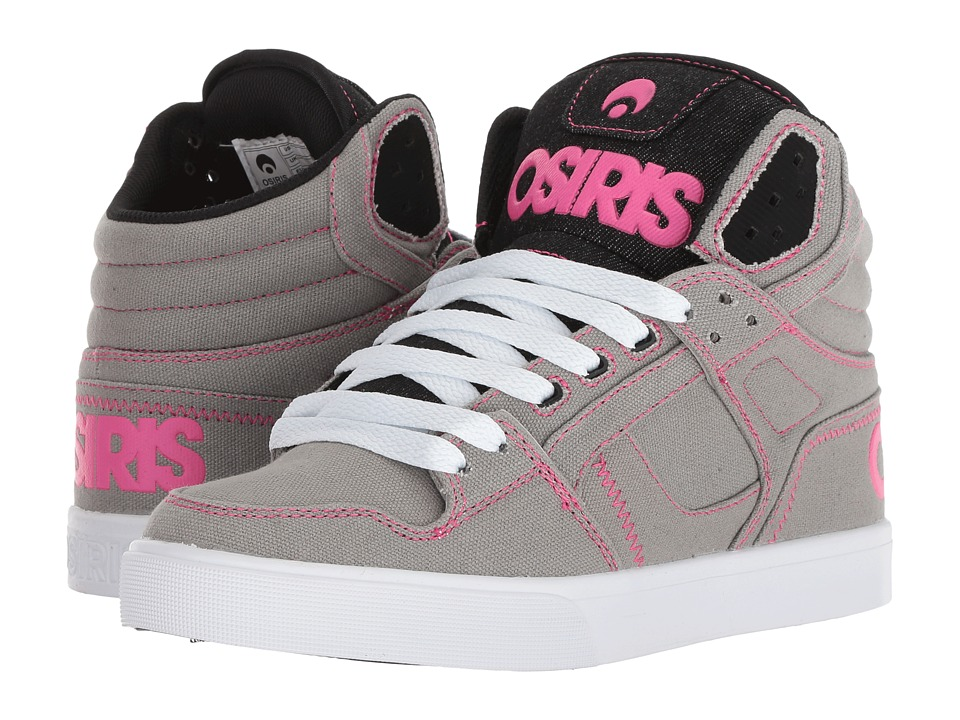 Osiris Clone (Grey/White/Pink) Women's Skate Shoes