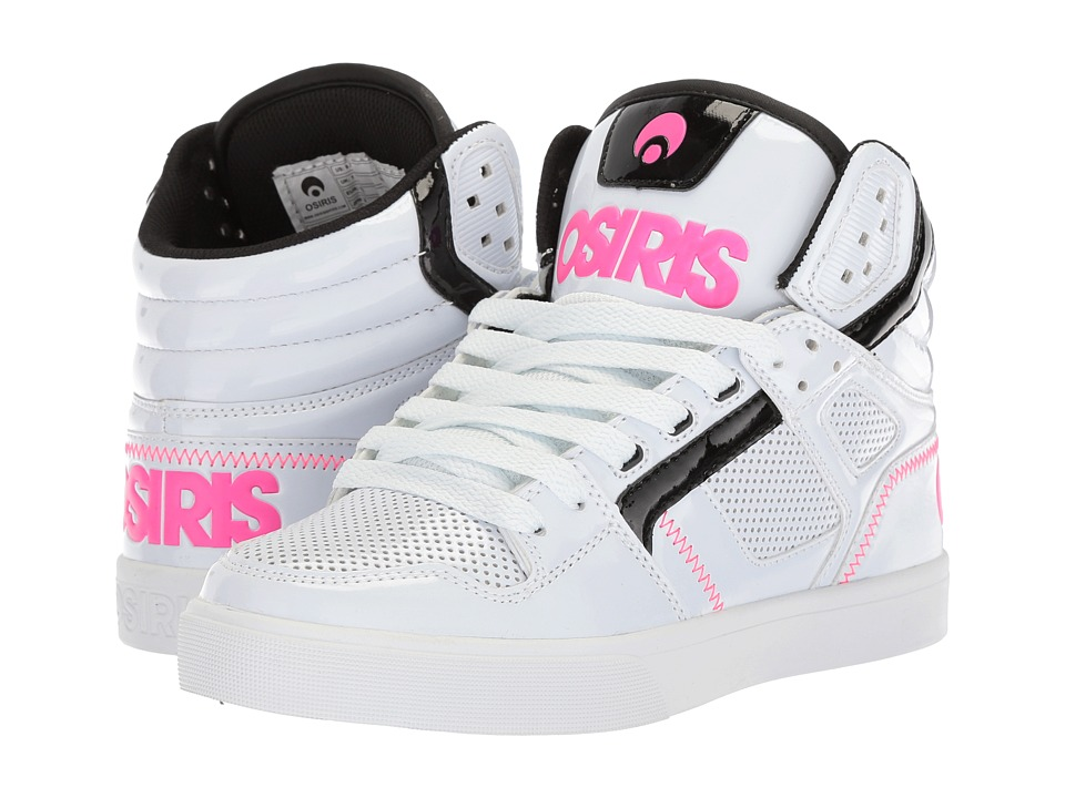 Osiris Clone (White/Black/Pink) Women's Skate Shoes
