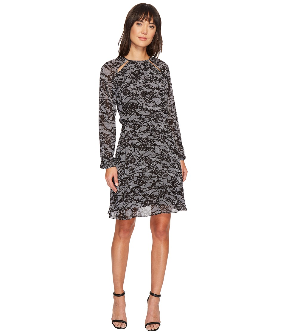 MICHAEL Michael Kors Delicate Lace Dress (Black/White) Women