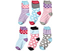 Jefferies Socks Dots and Stripes Crew 6-Pack (Toddler/Little Kid/Big Kid)