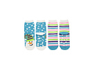 Jefferies Socks Snowman Fuzzy Slipper Socks 2-Pack (Toddler/Little Kid/Big Kid)
