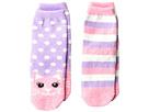 Jefferies Socks Cat Fuzzy Slipper Socks 2-Pack (Toddler/Little Kid/Big Kid)