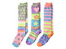 Jefferies Socks Neon Stripe Dots Knee Hi 3-Pack (Toddler/Little Kid/Big Kid)