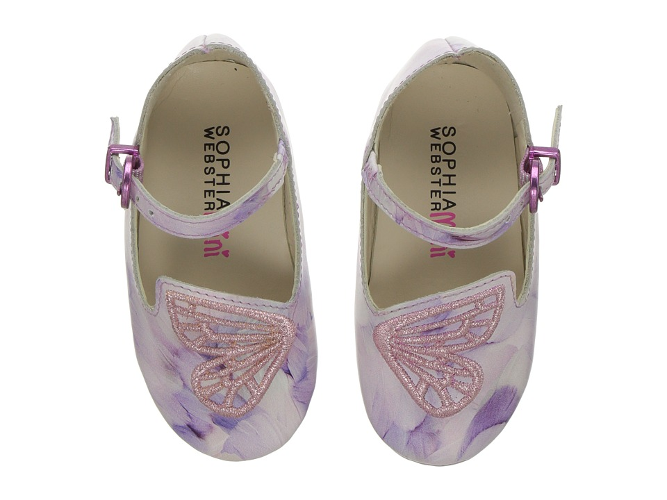 Sophia Webster - Bibi Butterfly Feather Print (Infant) (Pink/White) Girls Shoes