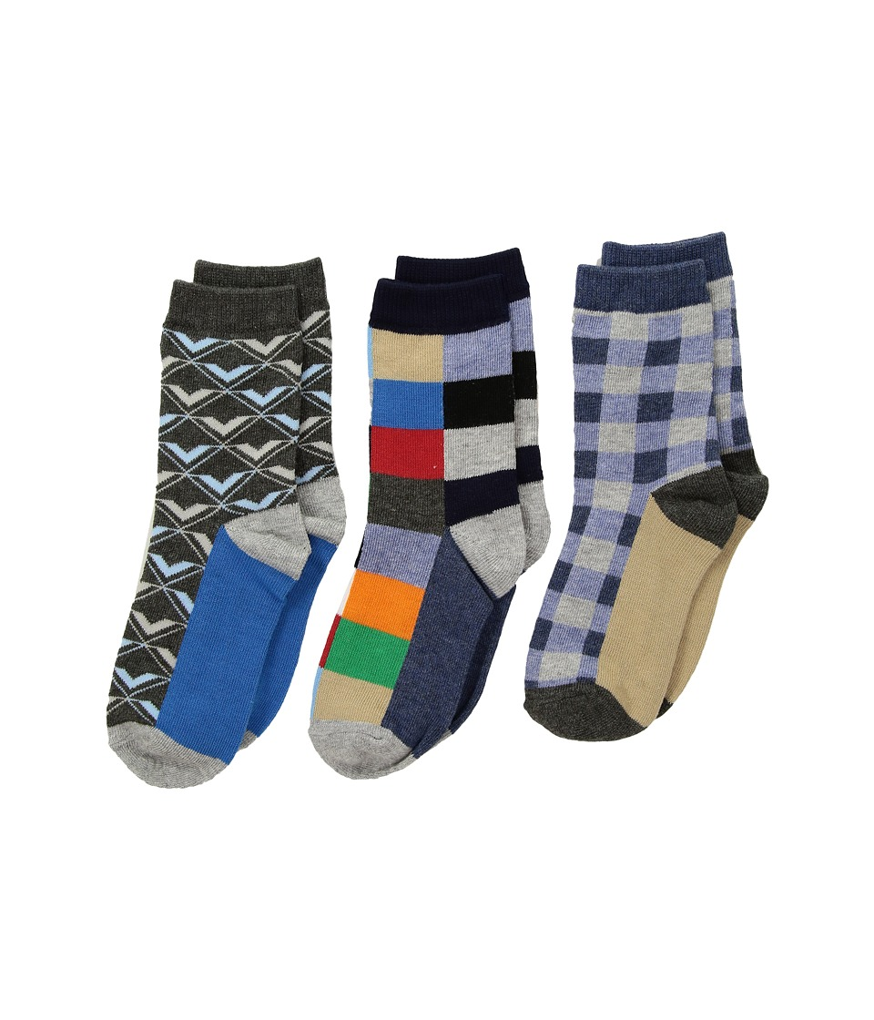Jefferies Socks Funky Plaid Dress Socks 3-Pack (Toddler/Little Kid/Big Kid) (Multi) Boys Shoes