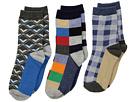 Jefferies Socks Funky Plaid Dress Socks 3-Pack (Toddler/Little Kid/Big Kid)