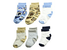 Jefferies Socks Non-Skid Camo/Stripe Crew 6-Pack (Infant/Toddler)