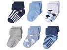 Jefferies Socks Non-Skid Argyle/Stripe Turn Cuff 6-Pack (Infant/Toddler)