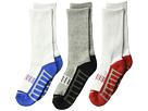 Jefferies Socks Sporty Half Cushion Crew 3-Pack (Toddler/Little Kid/Big Kid/Adult)