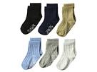 Jefferies Socks Non-Skid Rib Crew 6-Pack (Infant/Toddler)