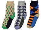 Jefferies Socks Funky Diamond Dress Socks 3-Pack (Toddler/Little Kid/Big Kid)