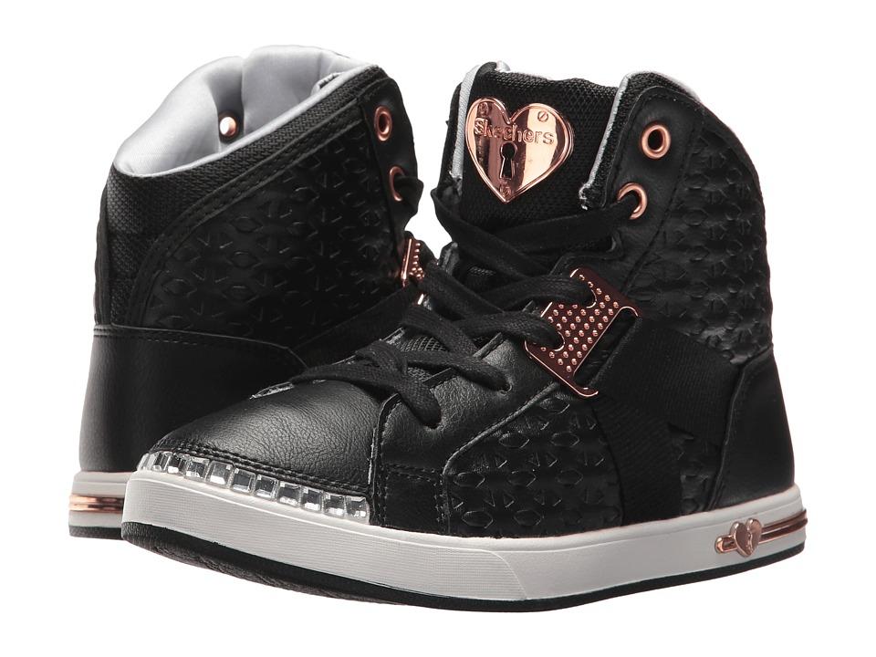 SKECHERS KIDS Shoutouts 84347L (Little Kid/Big Kid) (Black/Rose Gold) Girl's Shoes