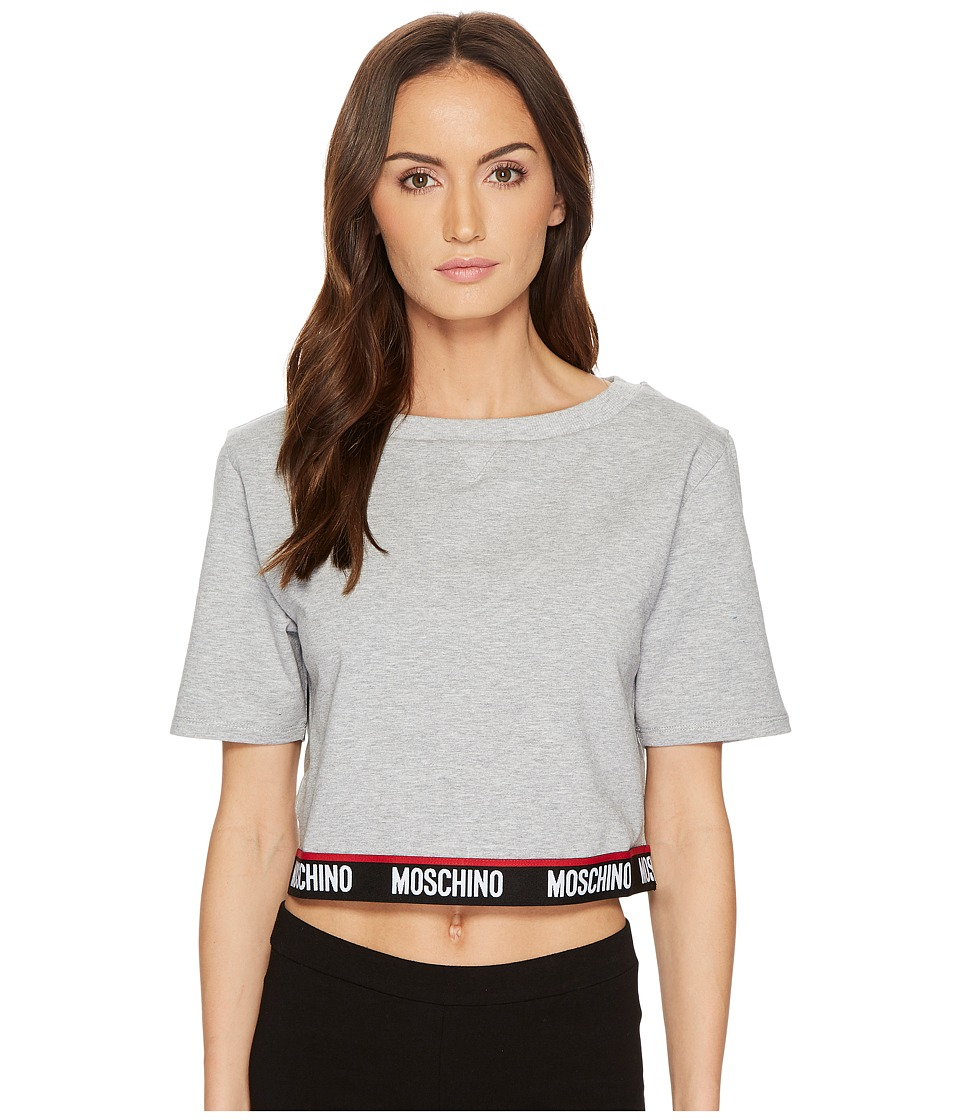 Moschino - Cotton Fleece Short Sleeve Sweatshirt