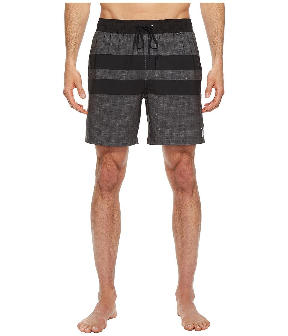 Hurley Phantom Blackball Volley Shorts (Black) Men