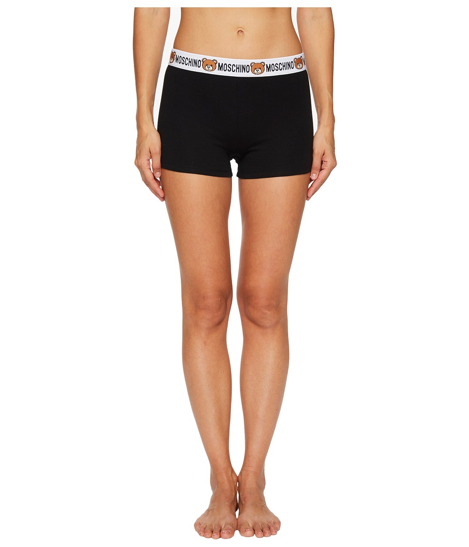 Moschino Jersey Stretch Underbear Shorts (Black) Women