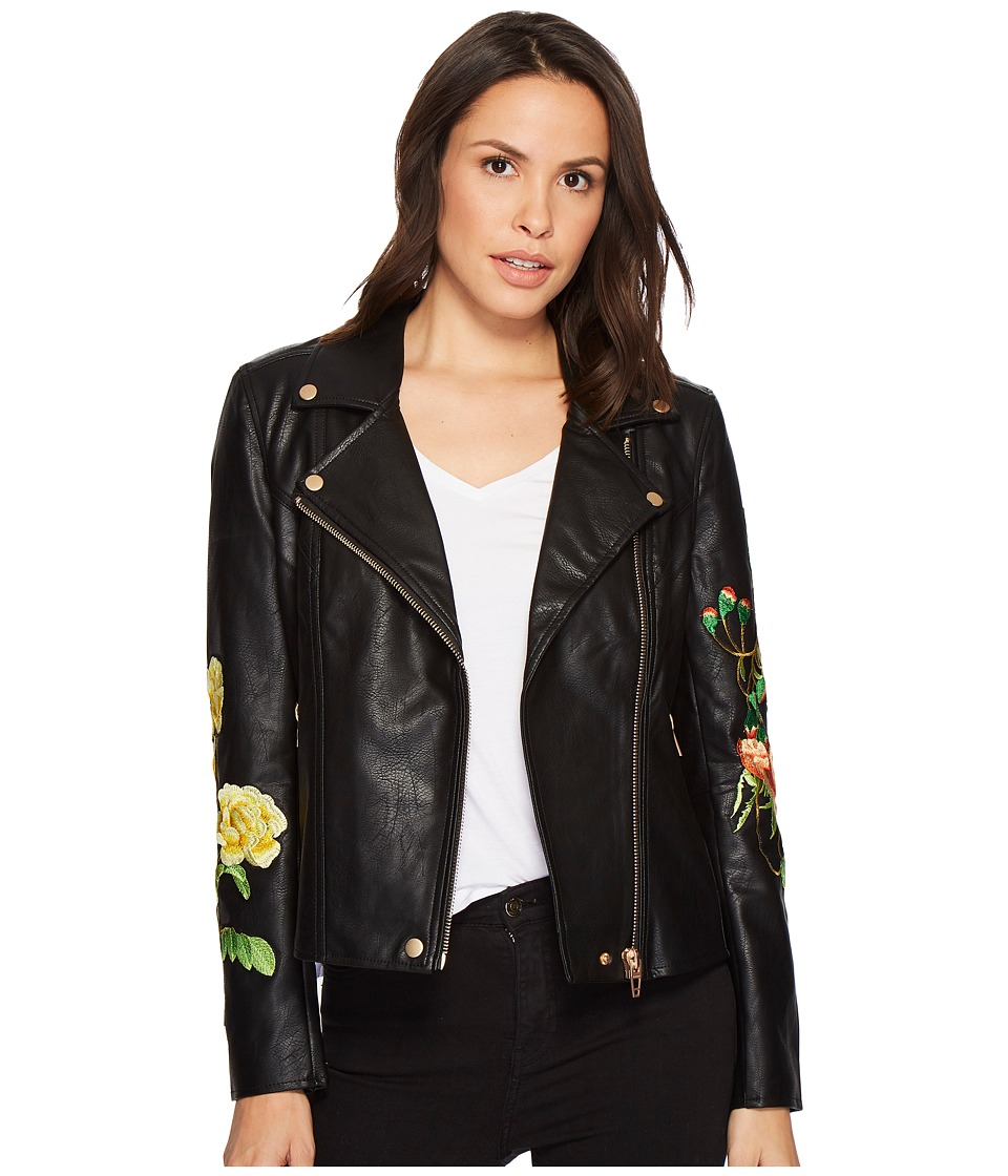 Blank NYC - Floral Moto Jacket in Bed of Roses (Bed of Ro...