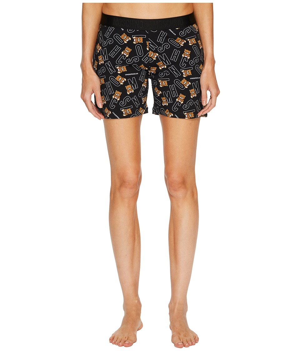 Moschino - Jersey Stretch Moschino Bear Shorts