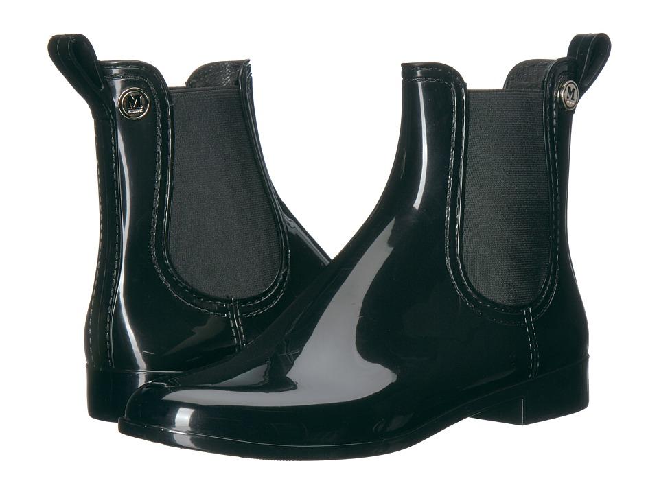 M Missoni Solid Short Rain Boot (Black) Women