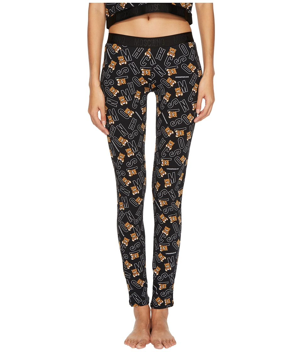 Moschino - Jersey Stretch Moschino Bear Leggings (Underbear) Womens Casual Pants