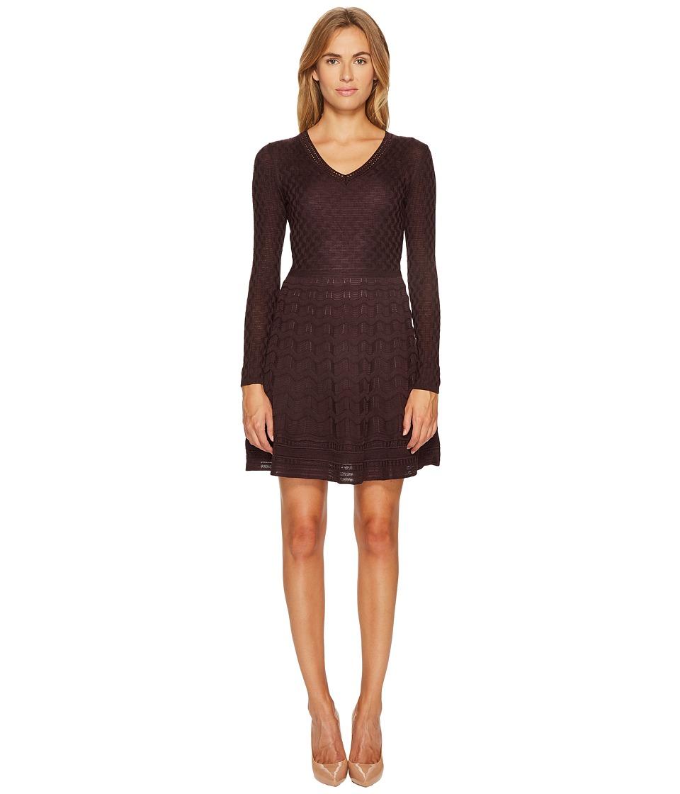 M Missoni Solid Knit Dress (Eggplant) Women