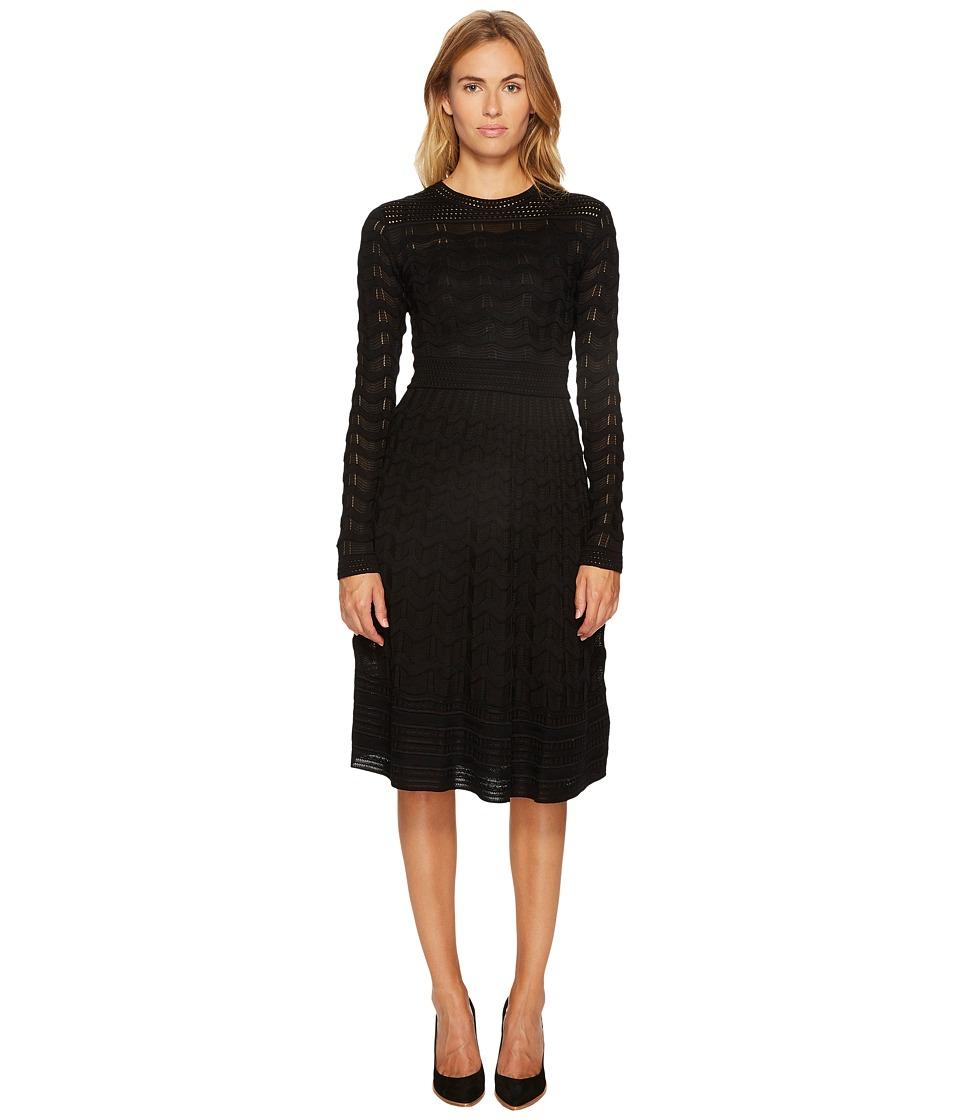 M Missoni Solid Knit Dress (Black) Women