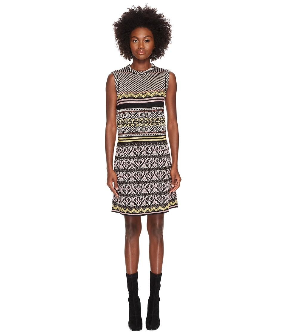 M Missoni Lurex Ribbon Knit Dress (Eggplant) Women