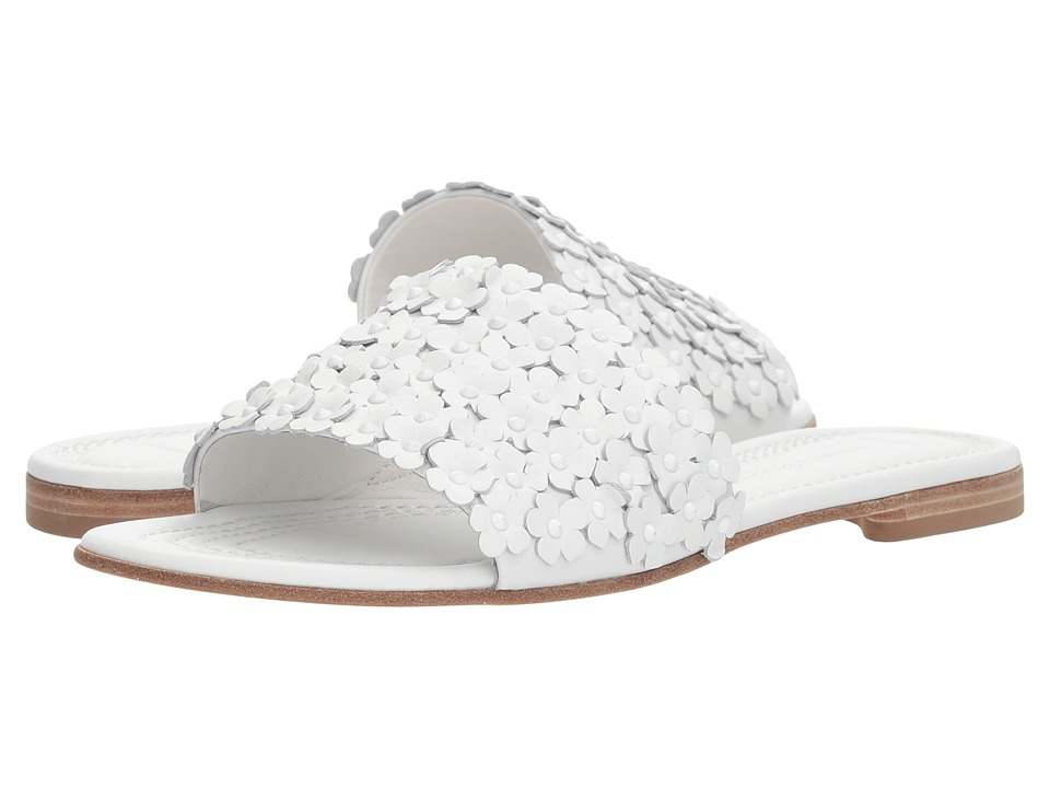 Kennel & Schmenger - Elle Floral Slide (White Calf) Womens Slide Shoes