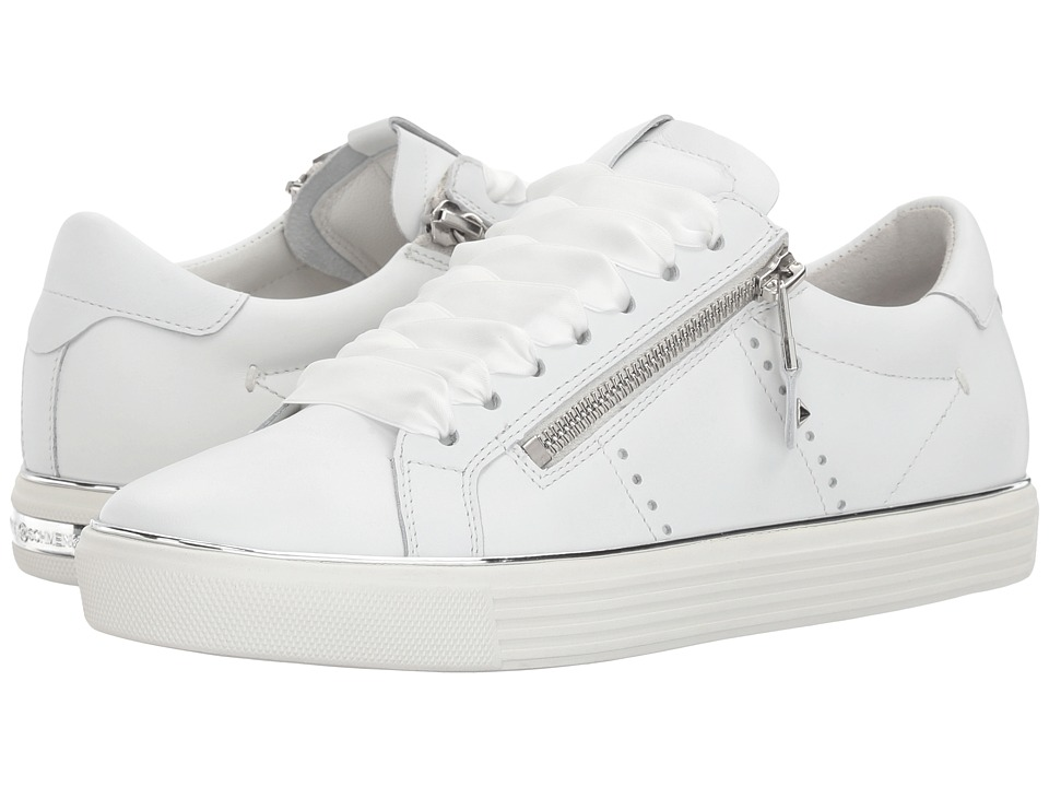 Kennel & Schmenger - Town Satin Lace Sneaker (White Calf) Womens Lace up casual Shoes