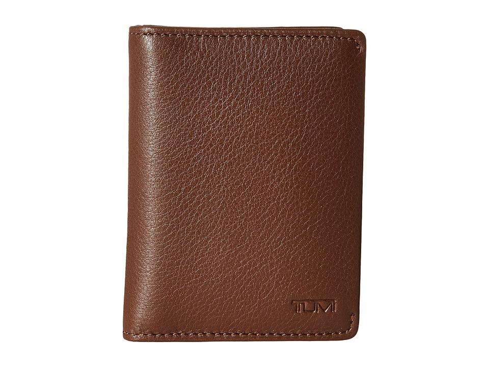 Tumi - Nassau Folding Card Case (Brown Textured) Credit card Wallet