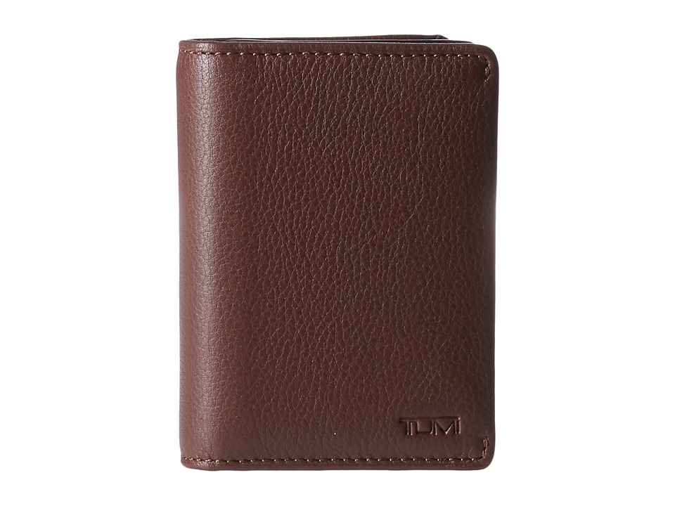 Tumi - Nassau Gusseted Card Case (Brown Textured) Credit card Wallet