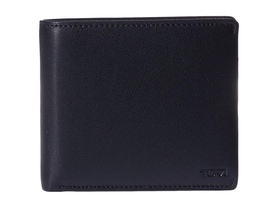 Tumi - Nassau Global Center Flip Passcase (Black Textured) Wallet