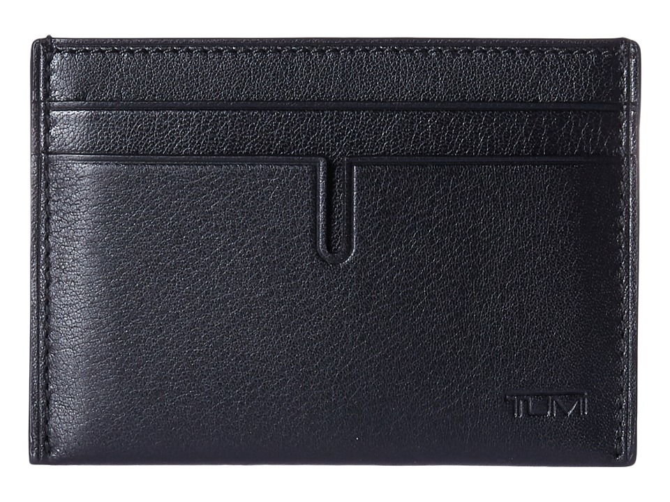 Tumi - Nassau Slim Card Case (Black Textured) Credit card Wallet