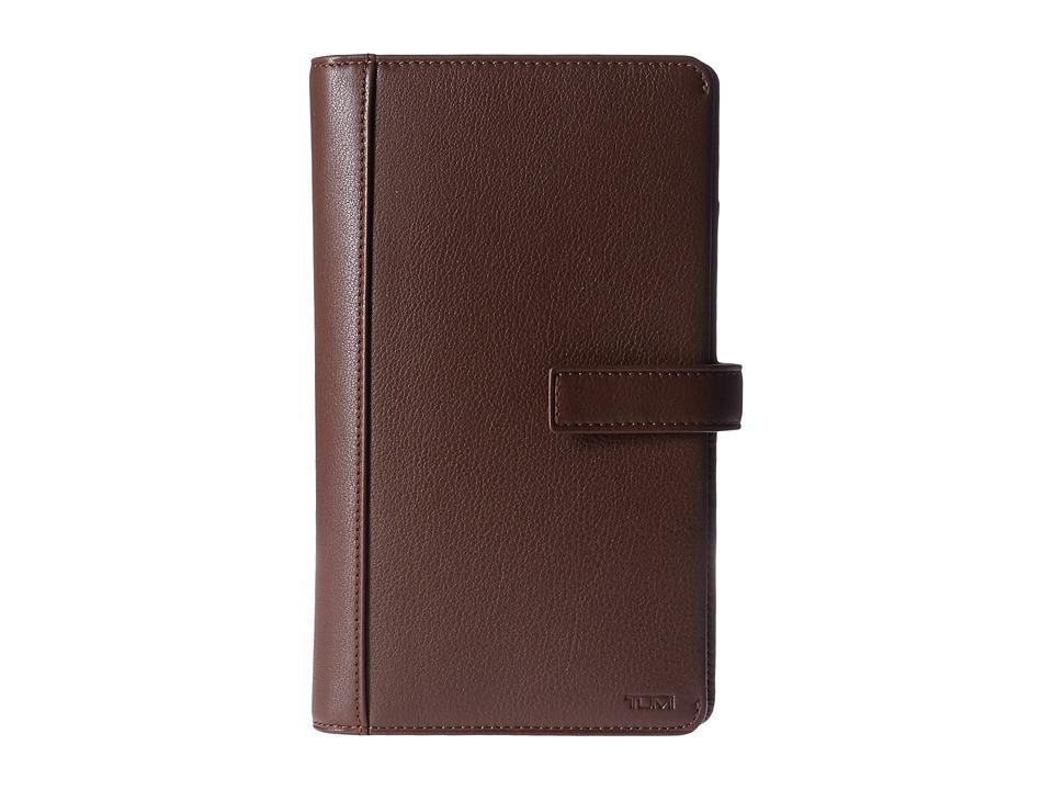 Tumi - Nassau Travel Organizer (Brown Textured) Wallet