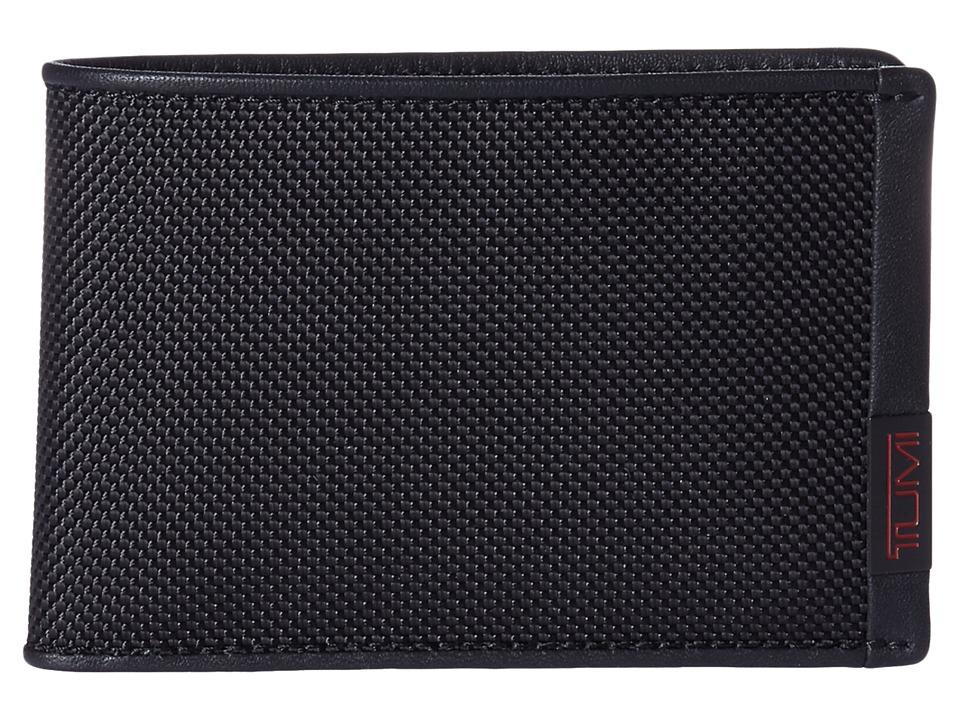 Tumi - Alpha - Slim Single Billfold (Black) Bill-fold Wallet